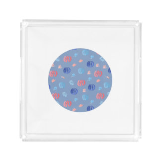 Chinese Lanterns Small Square Tray