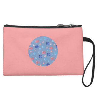 Chinese Lanterns Sueded Mini Clutch