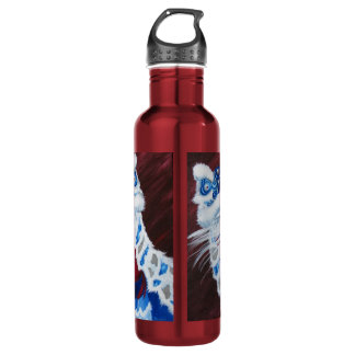 Chinese Lion Water Bottle-Blue Lion Red Bottle