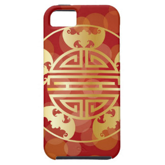Chinese Longevity Five Blessings Symbols Red iPhone 5 Cover
