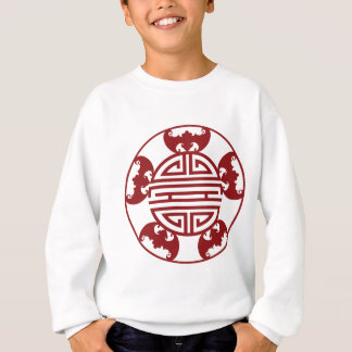 Chinese Longevity Five Blessings Symbols Sweatshirt