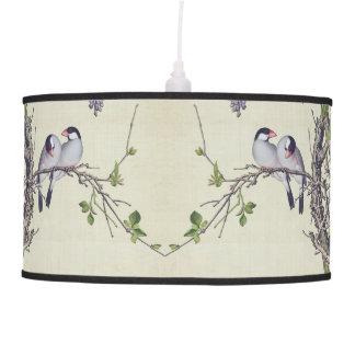 Chinese Love Birds Flowers Wildlife Hanging Lamp