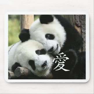 Chinese Loving Little Giant Pandas Mouse Pad