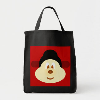 Chinese Male Hat 鮑 鮑 Black Grocery Tote