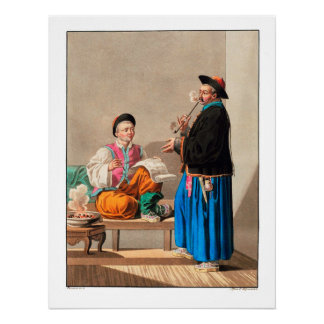 Chinese Merchant - 1812 Vintage Archival Print