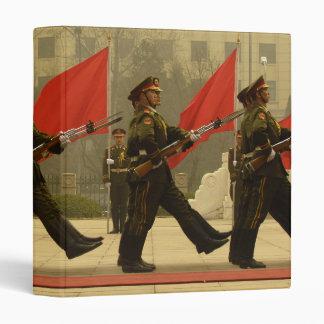 Chinese Military Honor Guard in Column Binders
