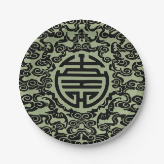 Chinese Motif Paper Plates 7 Inch Paper Plate