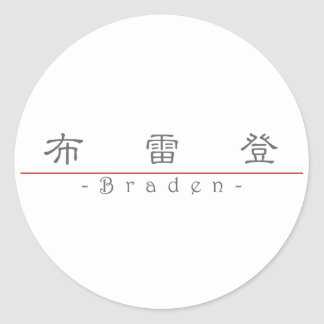 Chinese name for Braden 22258_2.pdf Round Sticker