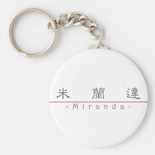 Chinese name for Miranda 20250_2.pdf Key Chains