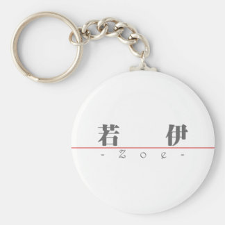 Chinese name for Zoe 20387_3.pdf Basic Round Button Keychain