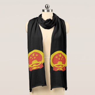 Chinese National Emblem Scarf