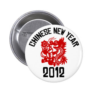 Chinese New Year 2012 2 Inch Round Button