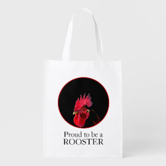 Chinese New Year 2017 Pixelised Rooster reusable B Grocery Bag