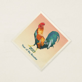 Chinese New Year 2017 Rooster Paper Napkins