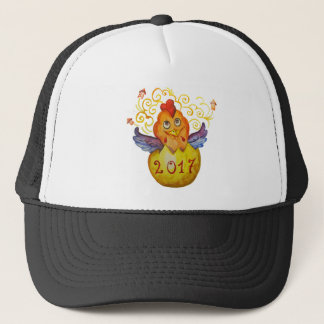 Chinese new year 2017 rooster trucker hat