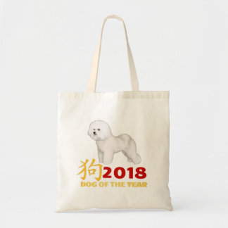 Chinese New Year. AKC Winner Bichon Frise! Tote Bag
