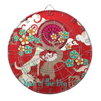 chinese new year dog dartboard