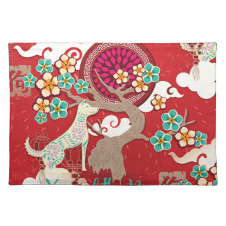 chinese new year dog placemat