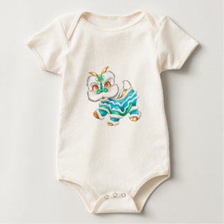 Chinese New Year Dragon Baby Blue Baby Bodysuit