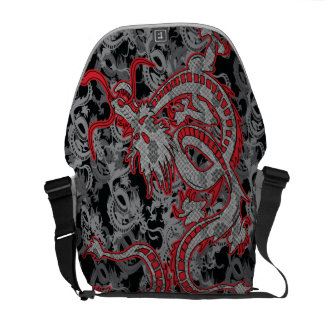 Chinese New Year Dragon - Dragon in Red Commuter Bags