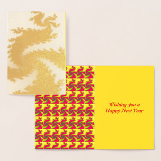Chinese New Year Dragon Foil Card