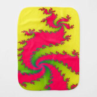 Chinese New Year Dragon Fractal Burp Cloth