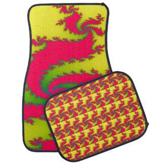 Chinese New Year Dragon Fractal Car Mats