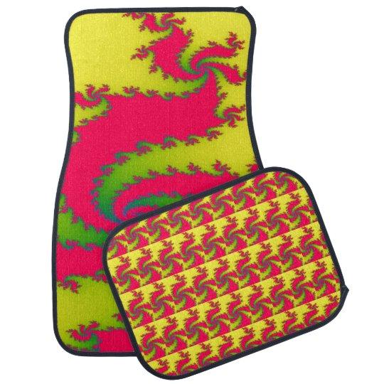 Chinese New Year Dragon Fractal Car Mats Car Mat