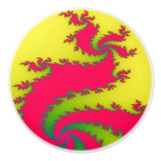 Chinese New Year Dragon Fractal Ceramic Knob