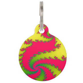 Chinese New Year Dragon Fractal Custom Dog Tag