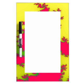 Chinese New Year Dragon Fractal Memo Board Dry Erase White Board