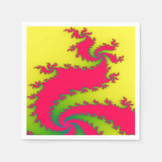 Chinese New Year Dragon Fractal Paper Napkins