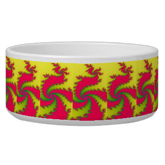 Chinese New Year Dragon Fractal Pet Bowl