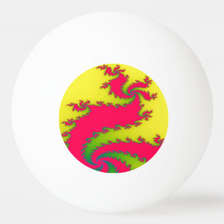 Chinese New Year Dragon Fractal Ping Pong Ball
