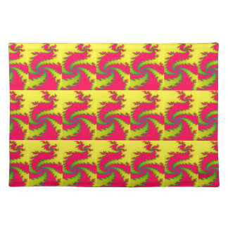 Chinese New Year Dragon Fractal Placemat