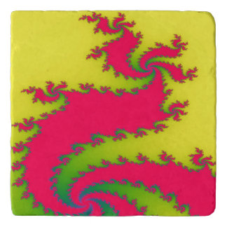 Chinese New Year Dragon Fractal Stone Trivet