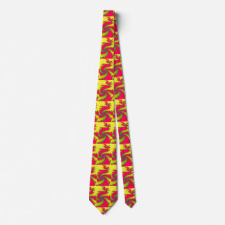 Chinese New Year Dragon Fractal Tie