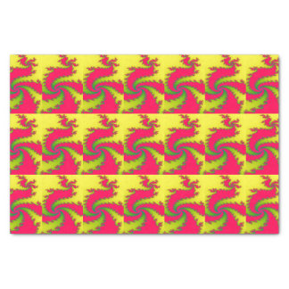 Chinese New Year Dragon Fractal Tissue Paper