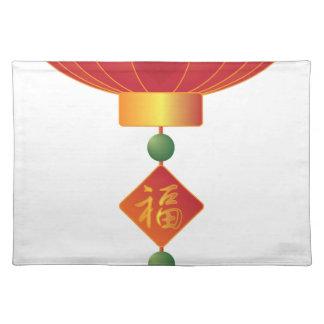 Chinese New Year Lantern Illustration Placemat