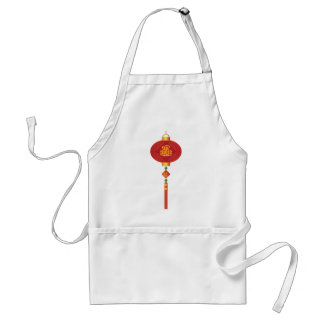 Chinese New Year Lantern Illustration Standard Apron