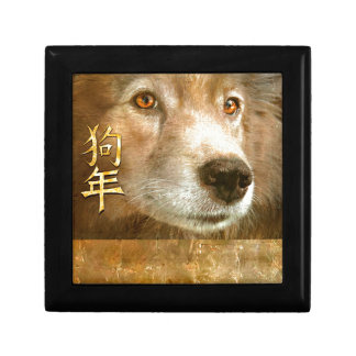 Chinese New Year of the Dog Golden Eyes Gift Box