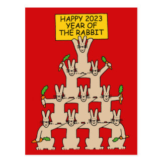 Chinese New Year of the rabbit 2023 Postcard