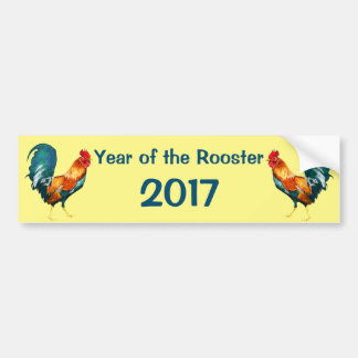 Chinese New Year of the Rooster Car Bumper Sticker
