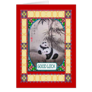 Chinese New year, Pandas beneath a tree Card