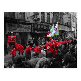 Chinese New Year Parade NY Postcard