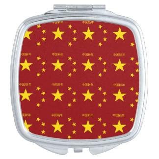 Chinese New Year Pattern Makeup Mirror
