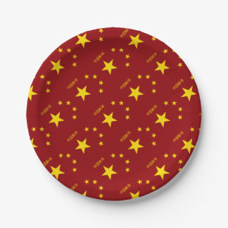 Chinese New Year Poster 7 Inch Paper Plate