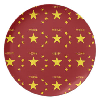 Chinese New Year Poster Dinner Plate