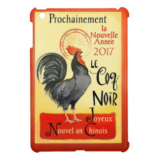 Chinese New Year Rooster French Poster Coq Noir Case For The iPad Mini