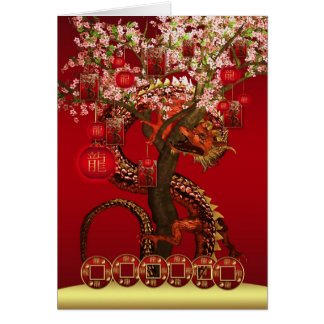 Chinese New Year, Year Of The Dragon Card